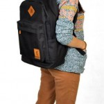 Tas Kuliah+Tas Laptop 2in1 Black (ESG Corduray Tercerio)