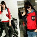 Blouse Modis England Pocket krah denim 2013 Spandex allsizeL - 65rb