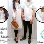 Baju Couple Muslim Putih Bordir - Gamis Couple Muslim