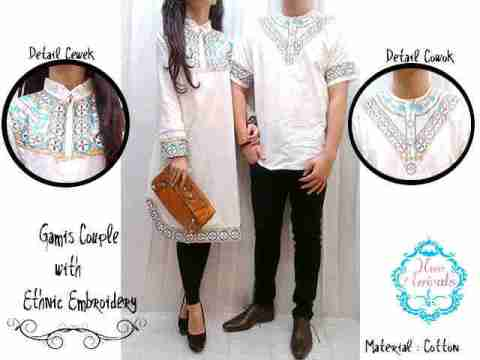 Baju Couple Muslim Batik Bordir allsize fit L - 179rb