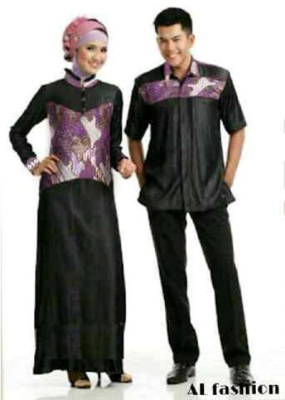 Baju Couple Muslim Etnik Batik Koleksi Gamis Couple