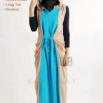 Baju muslim Frizie Hijaber Spndx Mix twist - 149rb