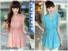 Blouse Korea Cantik S111 Wool Peach Mix Renda
