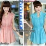 Blouse Korea Cantik  S111 Wool Peach Mix Renda allsize fit L (salem & tosca) - 69rb