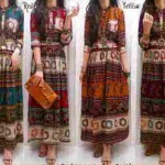 Dress Maxi Etnik Batik Katun Rayon+Belt - 108rb