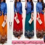 Drop Floral Maxi Dress Muslim S140 allsixe fit L - 129rb