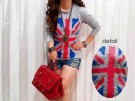 Kaos Modis England Grey Spandex Long Sleeve