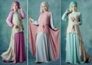 Baju Muslim Cantik Atasan Assymetris dan Pashmina S110
