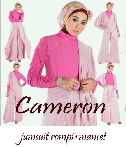 Cameron Hijabers Jumpsuit+manset spandex allsize fit L. - 140rb