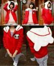 Jaket Cewek Panda Merah Putih Babytery