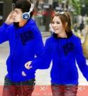Jaket Couple Qing Blue Hoodie Babytery