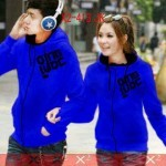 Jaket Couple Qing Blue Black Hodie Babytery - 119rb