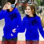 Jaket Couple Qing Blue Black Hodie Babytery - 119rb