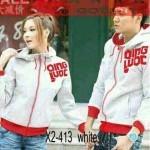 Jaket Couple Qing Putih Merah Hoodie Babytery - 119rb