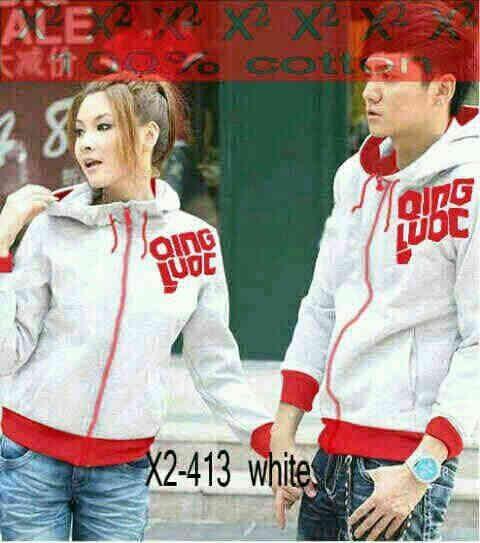 Jaket Couple Remaja Keren Warna Putih