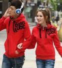 Jaket Couple Qing Red Hoodie Babytery