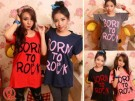 "Rocking Blouse Cewek ""Born To Rock""!"