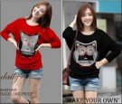 Kaos Casual Cute Owl S145 Combed