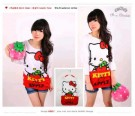 Kaos Hello Kitty Apple Long Sleeve