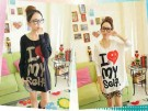 Kaos Casual Batwing Love My Self AN.785 Combed