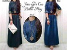 Maxi Coco Button Denim Jeans Wash+Belt S156