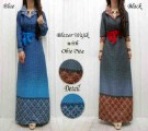 Maxi Dress Etnik Denim Wajik+Obi Pita 35195