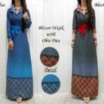 Maxi Dress Etnik Denim Wajik+Obi Pita 35195 allsize fit L - 139rb