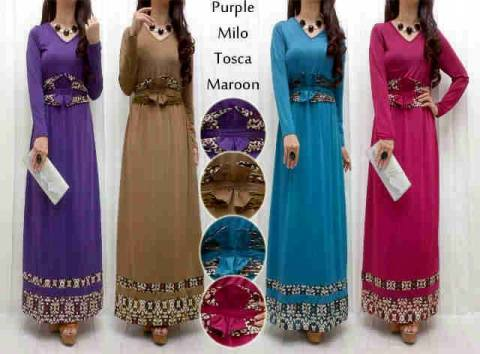 Maxi Dress S120 Spandex Korea Kombi Songket + obi lepas fit L - 119rb