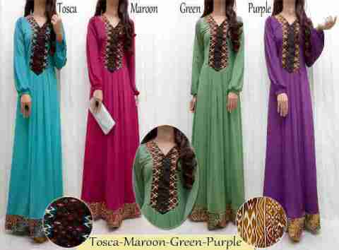 Maxi Dress S127 Spandex Korea Kombi Songket allsize fit L - 129rb (SOLD OUT)
