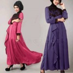Maxi Dress S129 Spandex Kombi Brocat allsize fit L - 134rb