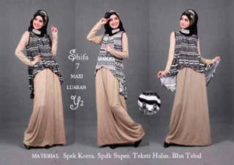 Maxi Dress S142 Shifa7 Spandex allsize fit L - 134rb