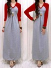 Maxidress Simply V-Neck Spandex Red Blue