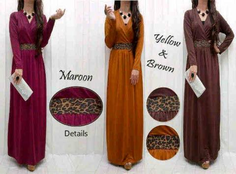 Maxidress S114 Spandex allsize fit L - 129rb