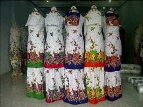 Mukena Jumbo Bunga Serayu Santung - 109rb