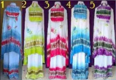 Mukena Lukis MPW Santung (lukis handmade) - 119rb