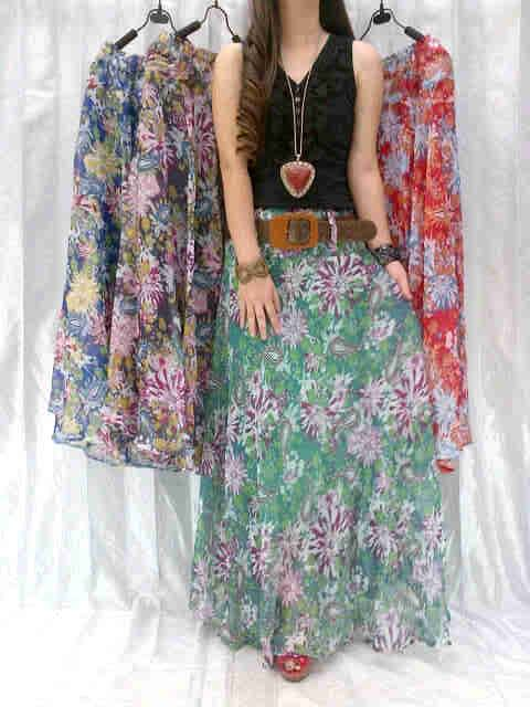 Rok Bunga Abstrak Happy New Year Shiffon 2in1 Allsize fit L - 84rb