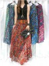 Rok Etnik Motif Songket Tribal Shiffon 2in1+Belt