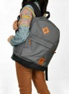 Tas Kuliah+Laptop 2in1 Dark Grey Corduray