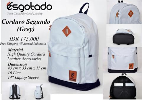 Tas Kuliah+Laptop 2in1 GREY Corduray - 175rb (CORDURO SEGUNDO GREY)
