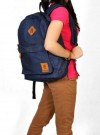 Tas Kuliah Blue Denim + Laptop Sleeve
