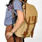 Tas Vintage Kanvas combi Leather Cream - 230rb (FINTAGIO SEGUNDO)