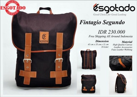Tas Vintage Kanvas combi Leather Dark Brown (FINTAGIO SEGUNDO) - 230rb