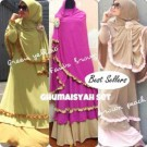 Gamis + Bergo Mix Renda Ghumaisyah Set