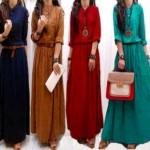 maxi dress casual remaja, maxi dress hillary+belt