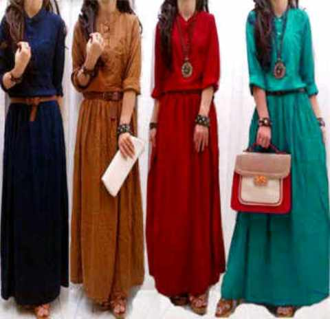 maxi dress casual remaja, maxi dress hillary+belt