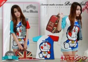 Kaos Cewek Doraemon Kaos Jaket Remaja Gambar Kartun Lucu