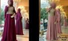 Maxi Dress Anggun Fatimah Brokat+Pashmina