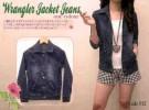 Jaket Jeans Wrangler for Woman Dark Blue