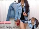 Jaket Jeans Wanita Simply Levi`s