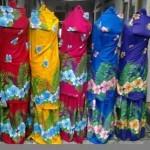 Mukena Bali Motif Bunga Sepatu Besar